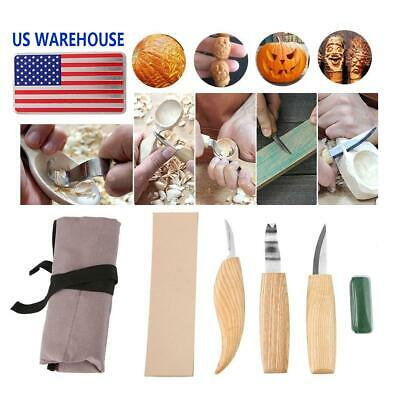 6pcs Wood Carving Knives Set Woodworking Hand Tool Whittling Spoon Wax Carpenter