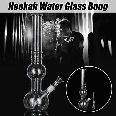 "Portable Maple Leaf Glass Hookah Bong Smoking Pipes Water Tobacco Shisha 11"" Hot"