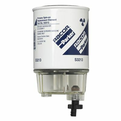 Racor Spin-On Fuel Filter/Water Separator for Gas Mercury Outboards B32013