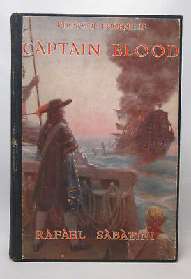 Captain Blood SIGNED Rafael Sabatini - First Illustrated Edition 1927 Hardcover