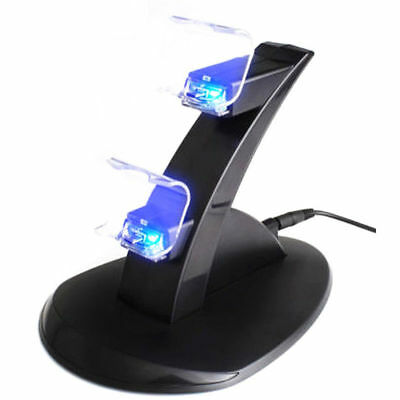 For PlayStation PS4 Dual Controller Charger Dock Station USB Charging Stand