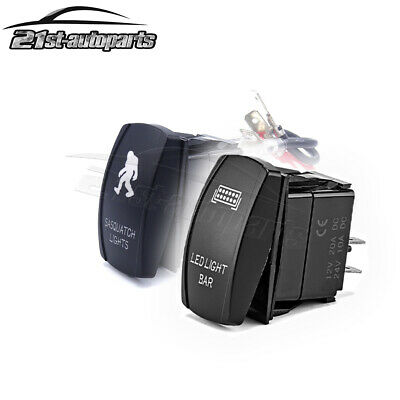 SASQUATCH LIGHTS & LED Bar Rocker Toggle Switch+Wiring For Jeep Ford