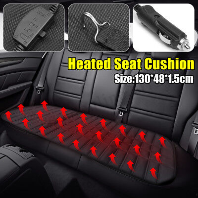 12V Universal Car Rear Seat Hot Heater Heating Pad Winter Warmer Cushion Cover