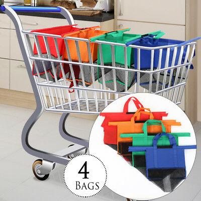 4in1 Shopping Trolley Bag Reusable Eco-Friendly Supermarket Carrier Bags