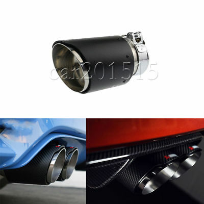 89mm Universal Car Exhaust Muffler Pipe Tip For Akrapovic Style Carbon Fiber