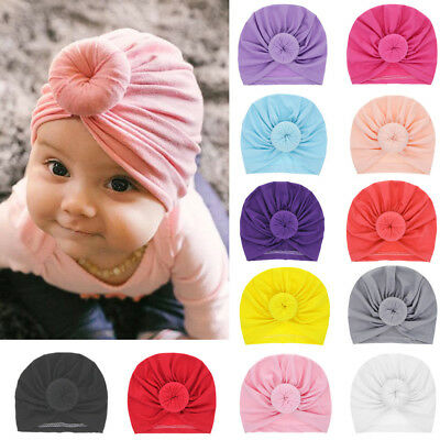 Infant Toddler Baby Soft Turban Stretchy Knot Beanie Hat Cap Hair Head Wrap