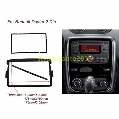 2 DIN Radio DVD Stereo fascia CD Panel Dash Mounting for Renault Duster 2012+