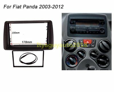 178*100mm 2 Din Radio Stereo fascia Plate Panel Frame For FIAT Panda 2003- 2012