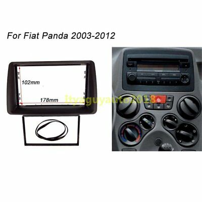 178*102mm 2 Din Radio Stereo fascia Plate Panel Frame For FIAT Panda 2003- 2012