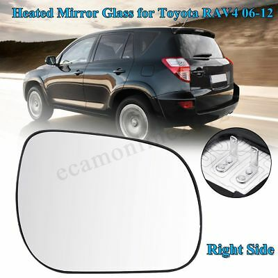 Electric Wing Door Heated Mirror Glass w/Base Right Side For Toyota RAV4 2006-12