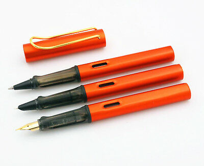 High Quality Writing metal golden EF STUDENT pen orange Fountain Pen