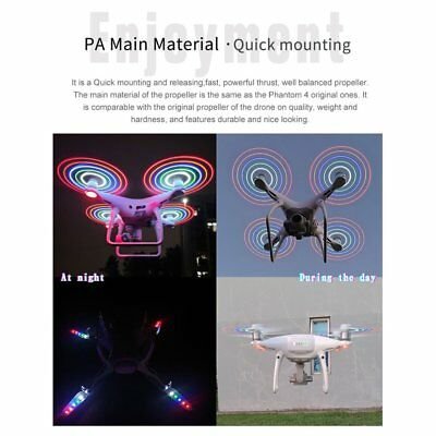 LED Flash CW CCW Propellers Props Part for DJI Phantom 4/4 Pro/Adv/ RC Drone GD