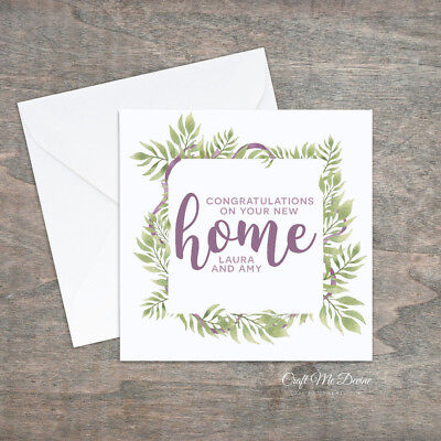 personalised new home card congratulations new house family names first home