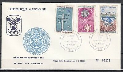 Gabon, Scott cat. 213-215. Winter Olympic Games issue. First day cover