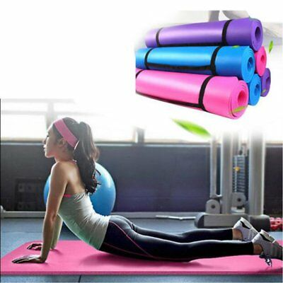 Yoga Mat Exercise Fitness Workout Mat Non Slip Extra Thick 15mm High Quality UK