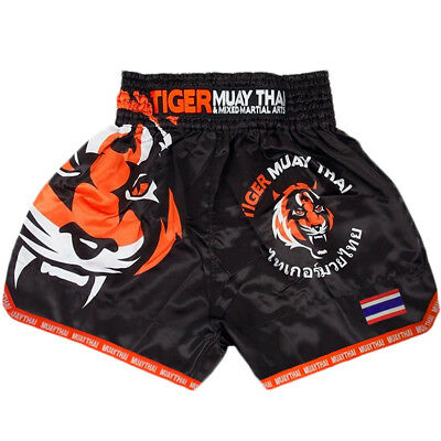 MMA Tiger Boxing Shorts Muay Thai Fight Cage Grappling Trunks Martial Arts Short