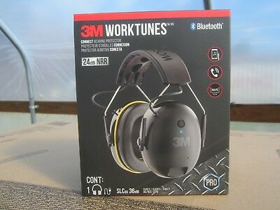 3M WorkTunes 90543-4DC Connect Wireless Bluetooth Ear Muff Hearing Protector