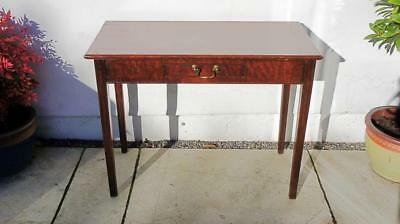 Small Georgian Mahogany writing or side table 92 cm x 45cm, single drawer