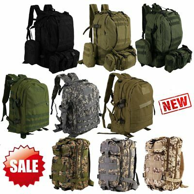 30L/40L/50L Military Tactical Army Rucksacks Molle Backpack Camping Bag