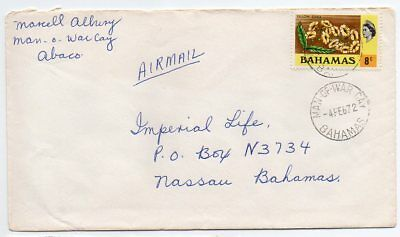 Bahamas 1972 intra Island mail to Nassau from Man-of-War Cay