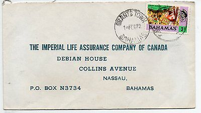 Bahamas 1972 intra islands commercial cover Grants Town to Nassau