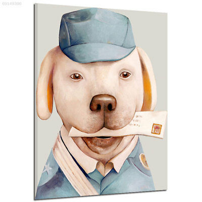 3C7D Creative Colorful Cartoon Express Dog Living Room Frameless Oil Paintings