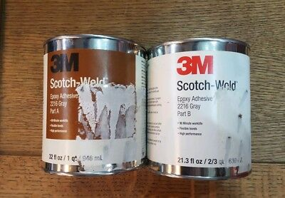 3M Scotch-Weld Epoxy Adhesive 2216 Gray B/A 1 Quart Kit (1 Kit)