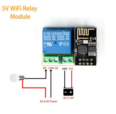 ESP8266 ESP-01S 5V WiFi Relay Module Things Smart Home Remote Control Switch