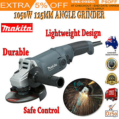 """Makita 1050W Angle Grinder 125mm (5"""") MT Series M9002G Corded Powerful New"""