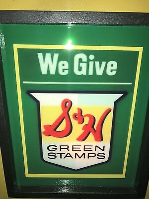 S+H Green Stamps Grocery Store Diner Kitchen Advertising Lighted Sign