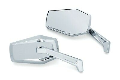 Kuryakyn 5918 Chrome Hex Right/Left Mirrors Multi-Fit Direct Harley Repalcement
