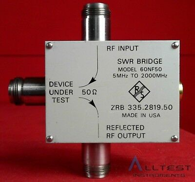 Wiltron R&S 60NF50 SWR Bridge, 5 - 2000 MHz, 46 dB