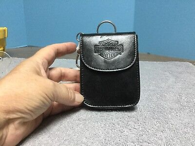 Harley-Davidson Unique Playing Cards with Take Along Leather Belt Pouch Keychain