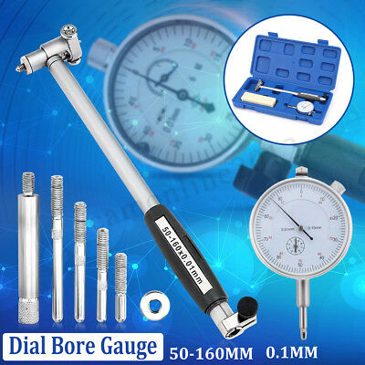 "50-160mm 2-6"" Dial Bore Gauge Indicator Cylinder Measuring Engine Gage Tool Kit"