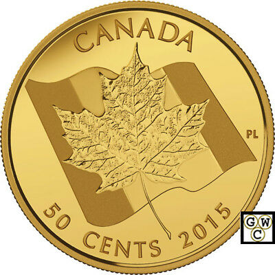 2015 Proof 50-Cent 'Maple Leaf' 1/25oz Gold Coin .9999 Fine (16947) (NT)