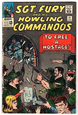 Sgt. Fury and His Howling Commandos #21, Very Good - Fine Condition