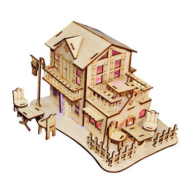 1/24 Dollhouse Model -3D Jigsaw Puzzle Wood Miniature DIY Making Handcraft