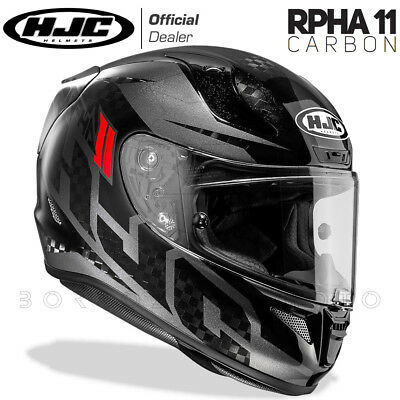 Casco Integrale Moto Racing In Fibra Carbonio Hjc Rpha-11 Carbon Lowin Mc5