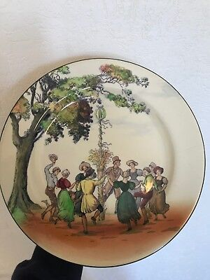 """Royal Doulton Seriesware 10"""" Plate! May Day! Old English Scenes! Very Rare!"""