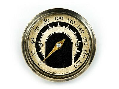 Motogadget MG5001015 Motoscope Tiny 49mm Vintage Motorcycle Analog Speedometer