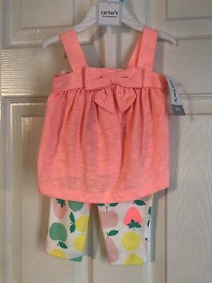 NEW NWT Carter's 2pc Outfit Set Baby Girl Size 6M 6 Months Pink