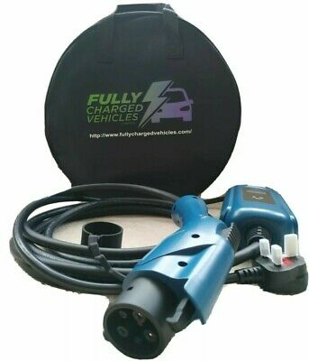Kia Soul EV portable EV charger 5m. UK 3 pin plug. Charge your electric car.