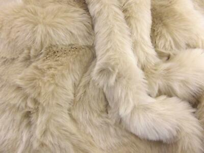 LUXURY Faux Fur Fabric Material - NEW BEIGE