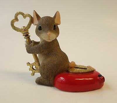 Charming Tails YOU HOLD THE KEY TO MY HEART 97/18 Fitz & Floyd MOUSE LOCK KEY