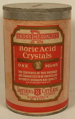 Boric Acid Vintage Container Snyder's Drug Mpls St Paul
