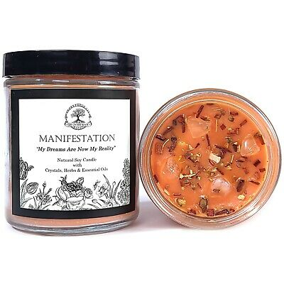 Manifestation Affirmation Candle Wealth Prosperity Cash Success Wiccan Pagan