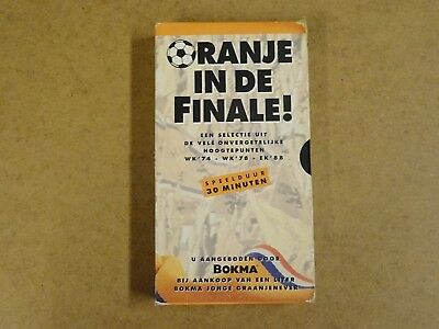 Vhs Video Cassette Voetbal / Oranje In De Finale !