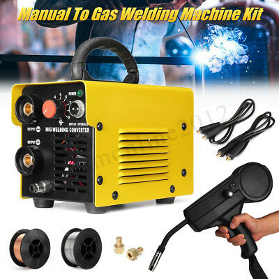 MIG-200 DIY Manual Welder To Gas Welding Machine Arc Shielded Spool Gun Inverter