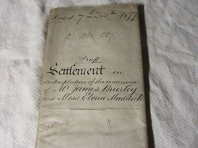 1877 INDENTURE Marriage Settlement in Contemplation - Congleton Chesire 12 Page