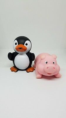 e99ea361688ce Elegant Baby Bath Time Fun Rubber Water Squirties Animal Party - Penguin    Pig